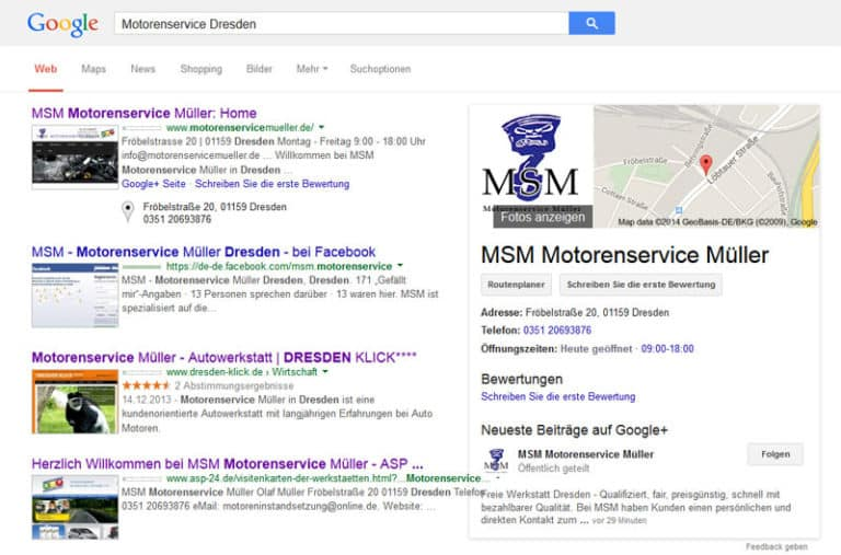 motorenservice online marketing dresden webseite